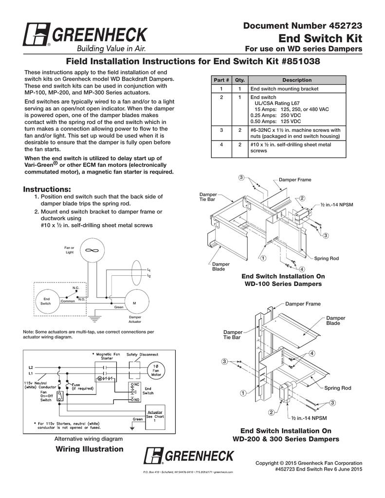 medium resolution of damper end switch wiring diagram wiring diagram forward damper end switch wiring diagram damper end switch