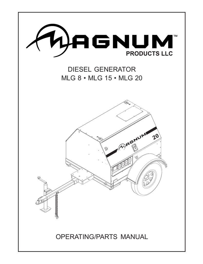 medium resolution of diesel generator mlg 8 mlg 15 mlg 20 operating parts manual 20