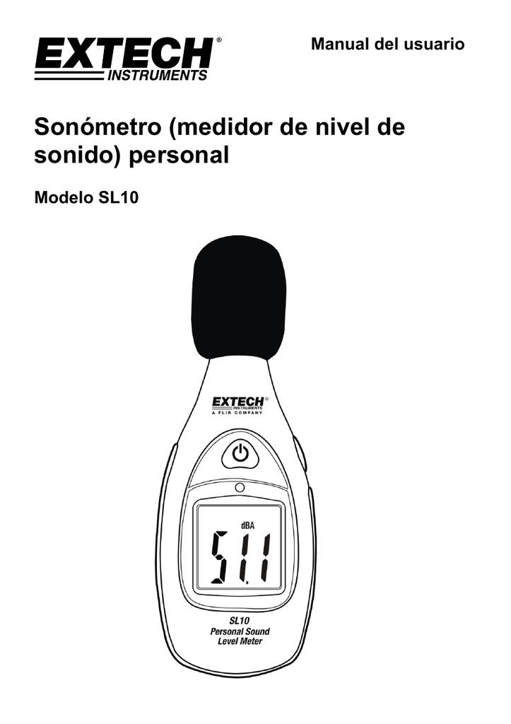 Sonómetro (medidor de nivel de sonido) personal Manual del