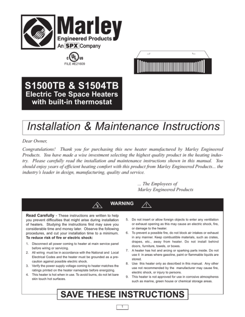 small resolution of installation amp maintenance instructions s1500tb amp s1504tb electric toe