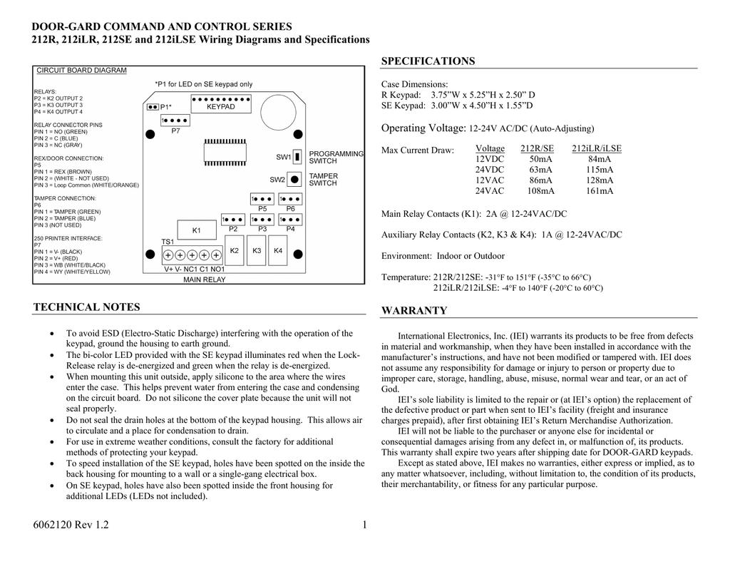 hight resolution of keypad iei 212r wiring diagram