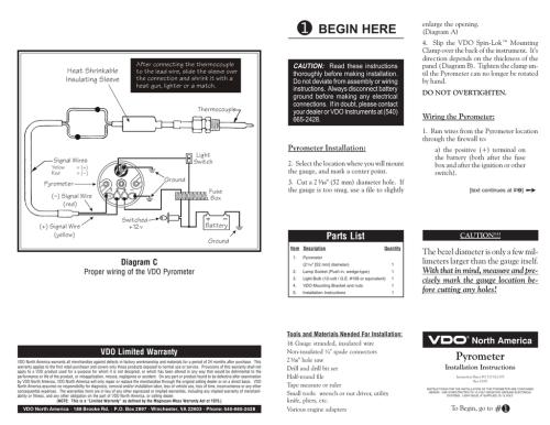 small resolution of vdo pyrometer gauges install instructions manualzz comvdo pyrometer gauges install instructions
