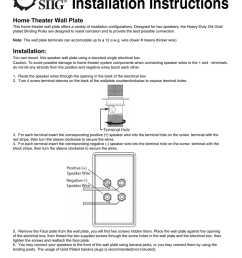 installation instructions home theater wall plate [ 791 x 1024 Pixel ]