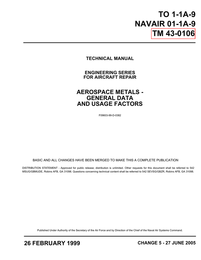 medium resolution of to 1 1a 9 navair 01 1a 9 tm 43 0106 technical manual engineering series for aircraft repair aerospace metals general data and usage factors f09603 99 d 0382