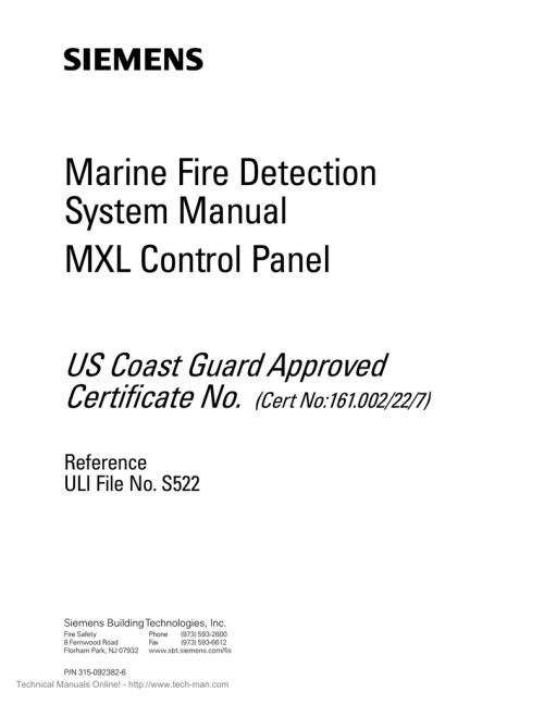 small resolution of siemens mxl marine fire detection system manual