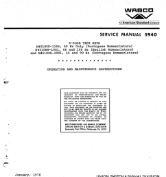 company service manual 5940 6 code test sets n451088 1104 60 hz only portugese nomenclature n451088 1901 60 and 100 hz english nomenclature and  [ 792 x 1024 Pixel ]