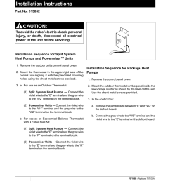 installation instructions caution outdoor thermostat kit [ 791 x 1024 Pixel ]
