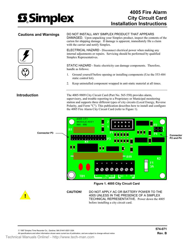 hight resolution of simplex 4005 city circuit card installation manual rev a manualzz com