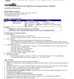 eco mart inc fluorescent high bay occupancy sensor module installation instructions [ 791 x 1024 Pixel ]