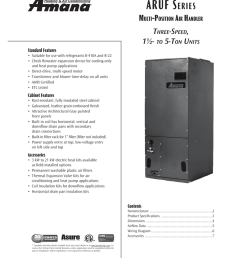 amana aruf series multi position air handler ss manualzz com on air handler amana amana air conditioner  [ 791 x 1024 Pixel ]