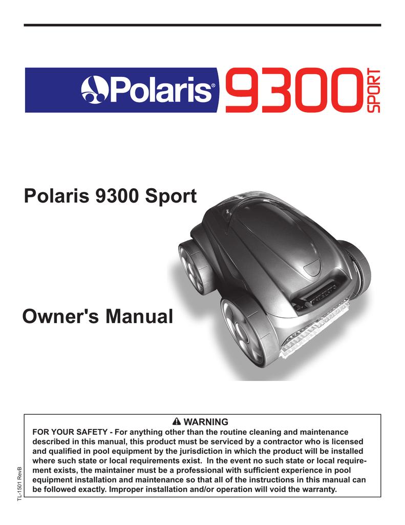 medium resolution of polaris 9300 cleaner
