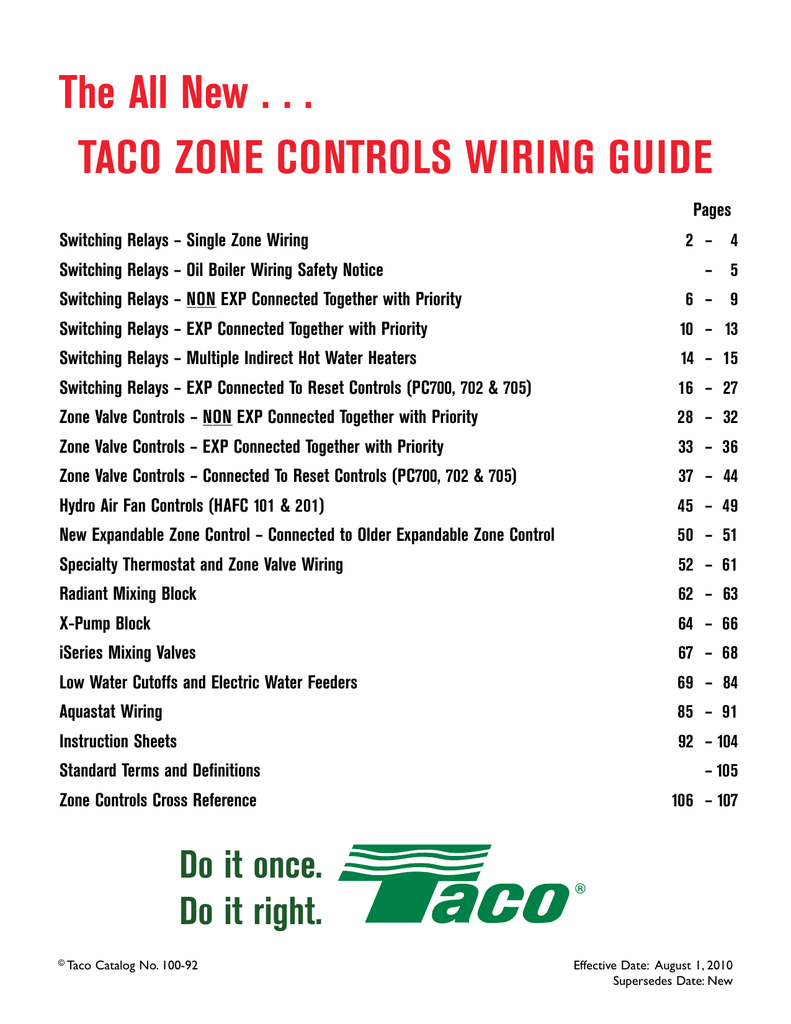 hight resolution of taco wiring guide manualzz comtaco wiring guide