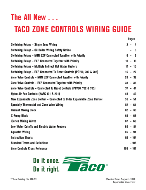 small resolution of taco wiring guide manualzz comtaco wiring guide