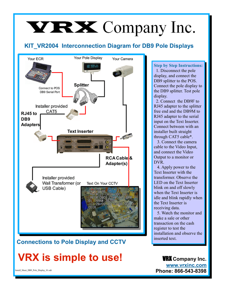 hight resolution of install sheet db9 pole displa