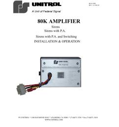 unitrol siren wiring diagram wiring diagram autovehicle 80k amplifier manualzz com14 feb 03 80k amplifier sirens [ 837 x 1024 Pixel ]