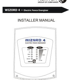 installer manual wizord 4 electric fence energizer [ 791 x 1024 Pixel ]