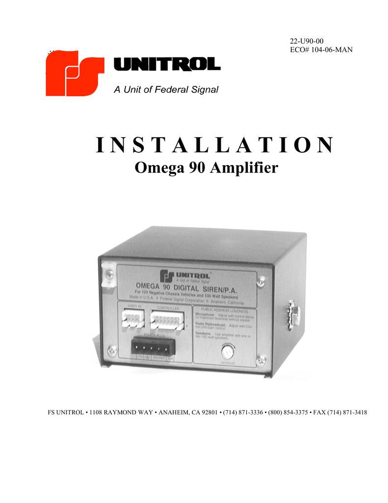 medium resolution of omega 90 amplifier