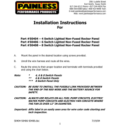 fax 888 350 6588 sales 800 423 9696 tech e mail painless painlessperformance com web www painlessperformance com installation instructions for part  [ 791 x 1024 Pixel ]