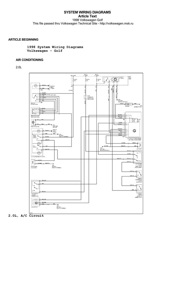 [DIAGRAM] Manual Sistema Volkswagen Golf Wiring Diagram In