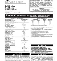 trane xr13 heat pump service facts [ 791 x 1024 Pixel ]