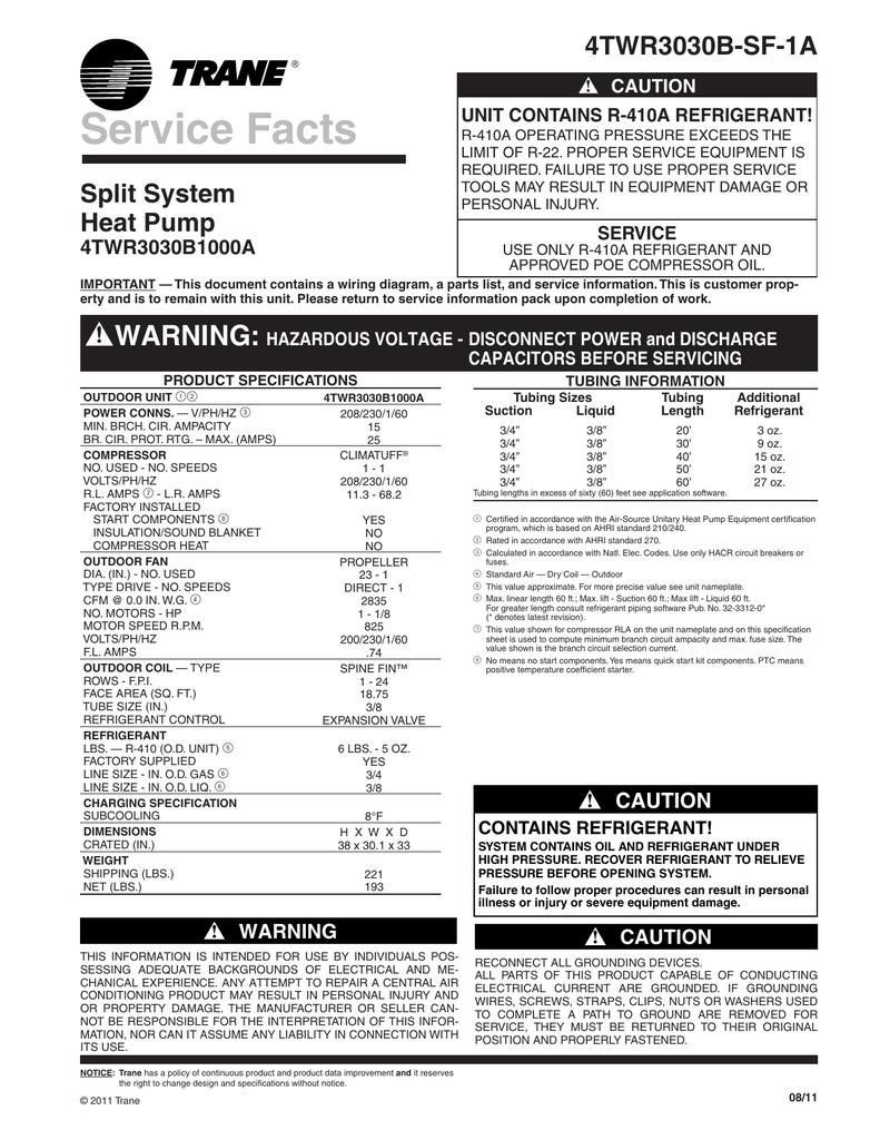 hight resolution of trane xr13 heat pump service facts