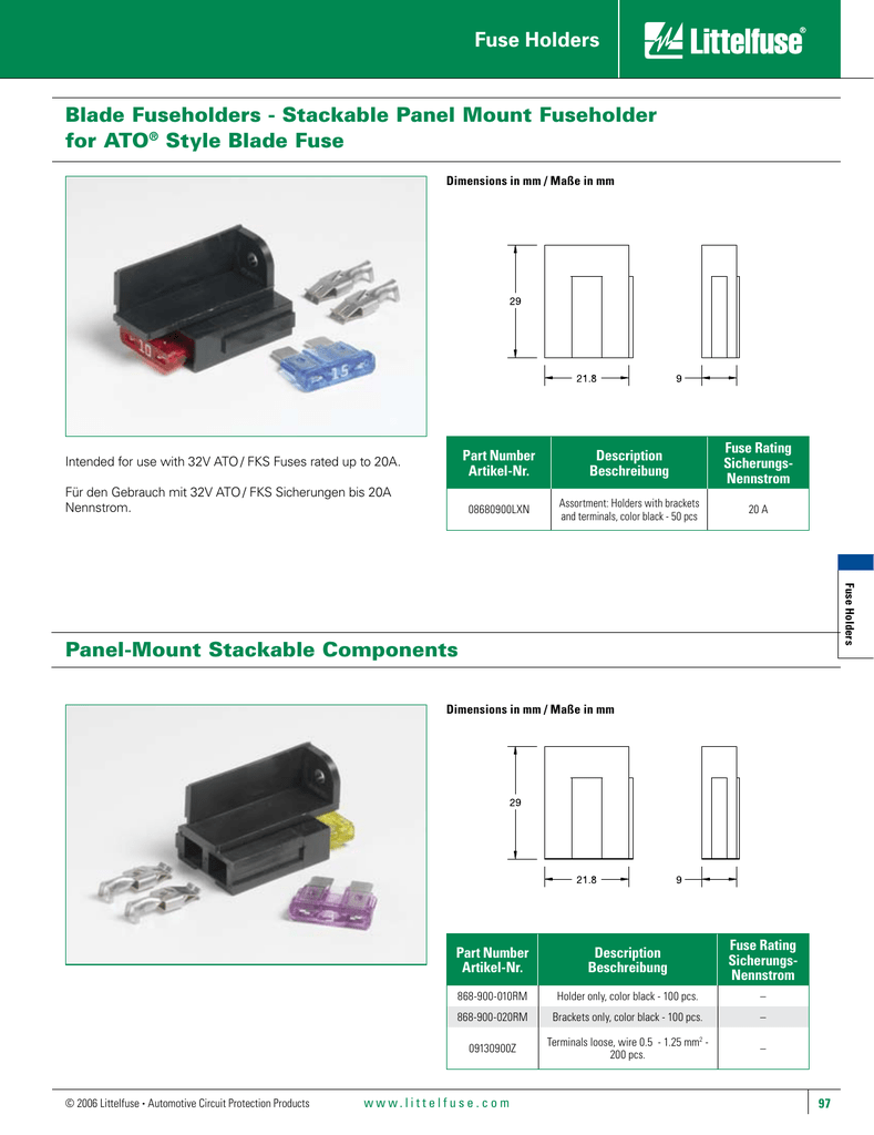 medium resolution of blade fuseholders stackable panel mount fuseholder for ato style blade fuse