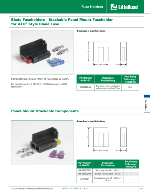 small resolution of blade fuseholders stackable panel mount fuseholder for ato style blade fuse