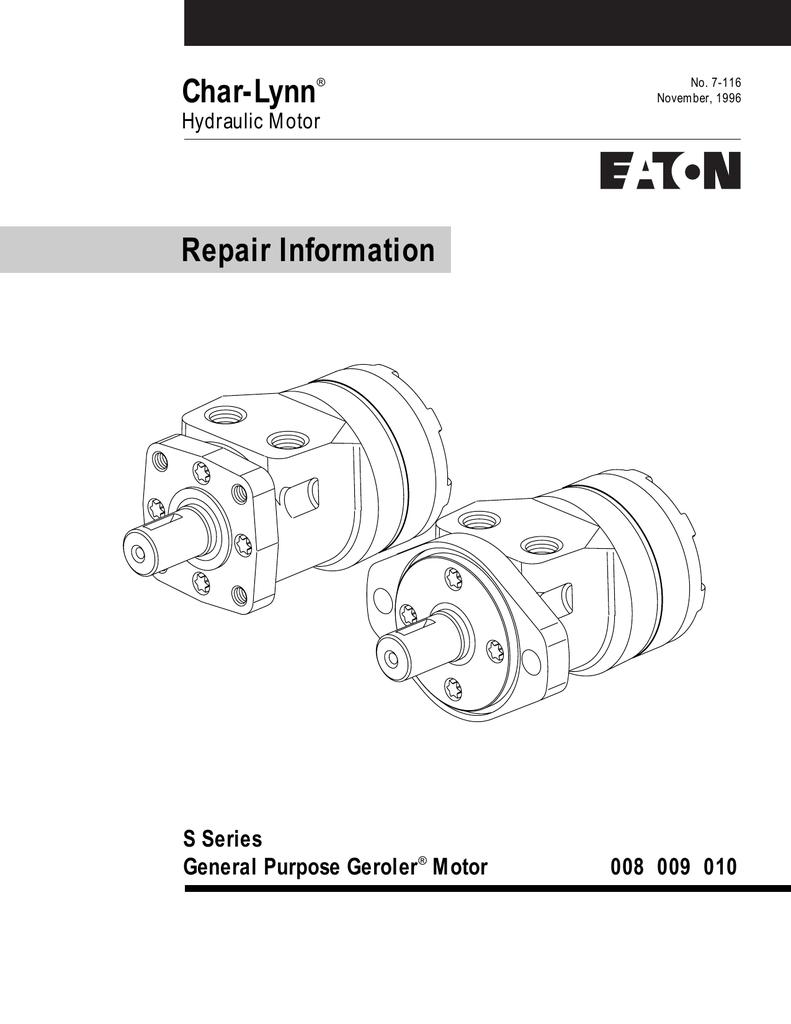 Char-Lynn Repair Information S Series General Purpose