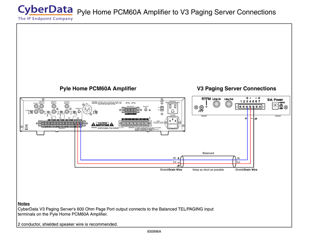 hight resolution of 930996a pyle home pcm60a to v3 paging server connection