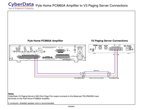 small resolution of 930996a pyle home pcm60a to v3 paging server connection