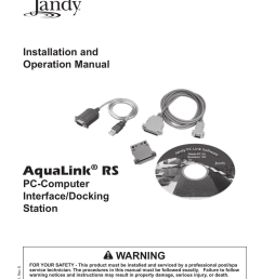 jandy aqualink rs installation and operation manual [ 791 x 1024 Pixel ]