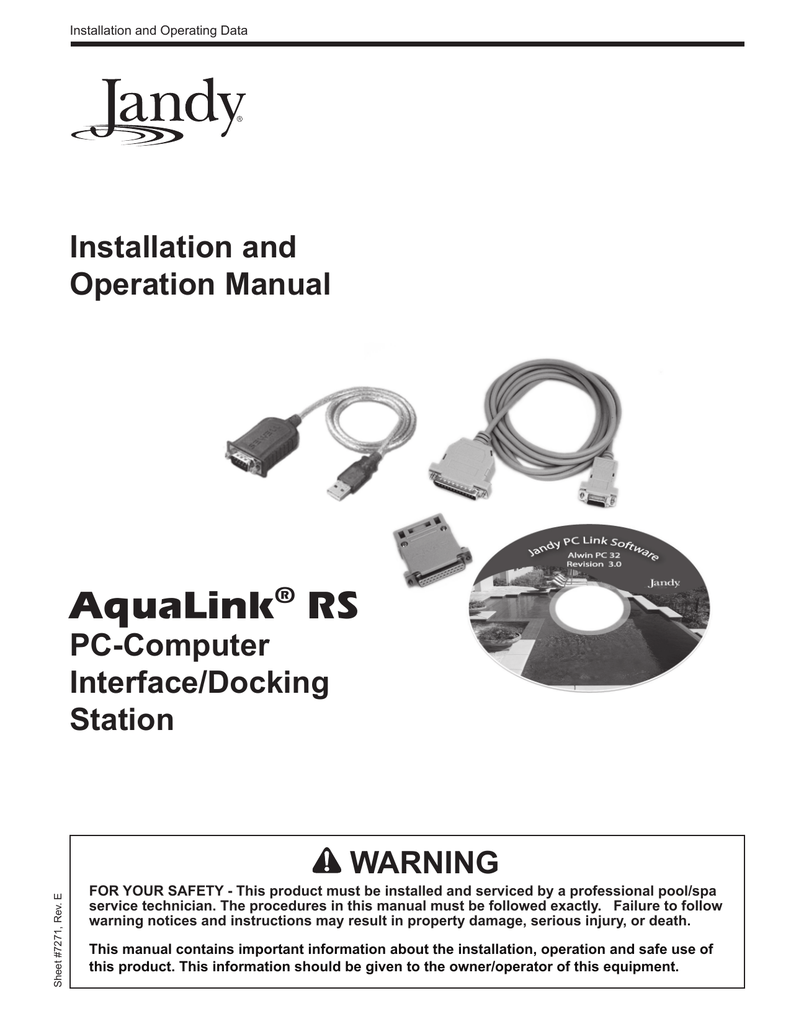 hight resolution of jandy aqualink rs installation and operation manual