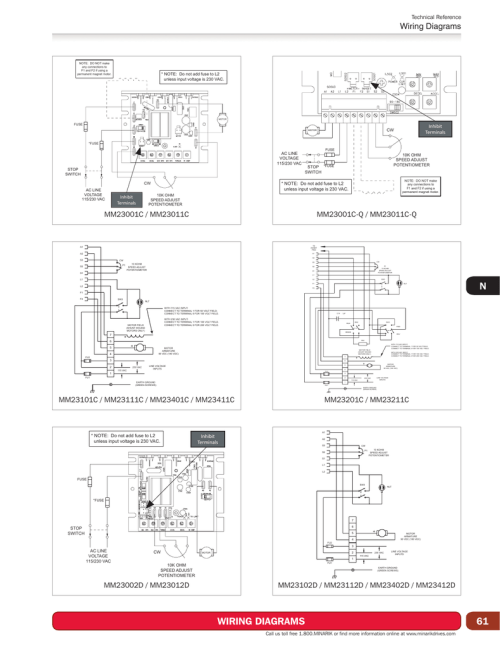 small resolution of technical reference wiring diagrams note do not make any connections to f1 and f2 if using a permanent magnet motor note do not add fuse to l2 unless