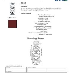 leviton 5225 spec sheet manualzz com on outlet wiring diagram double pole switch  [ 791 x 1024 Pixel ]
