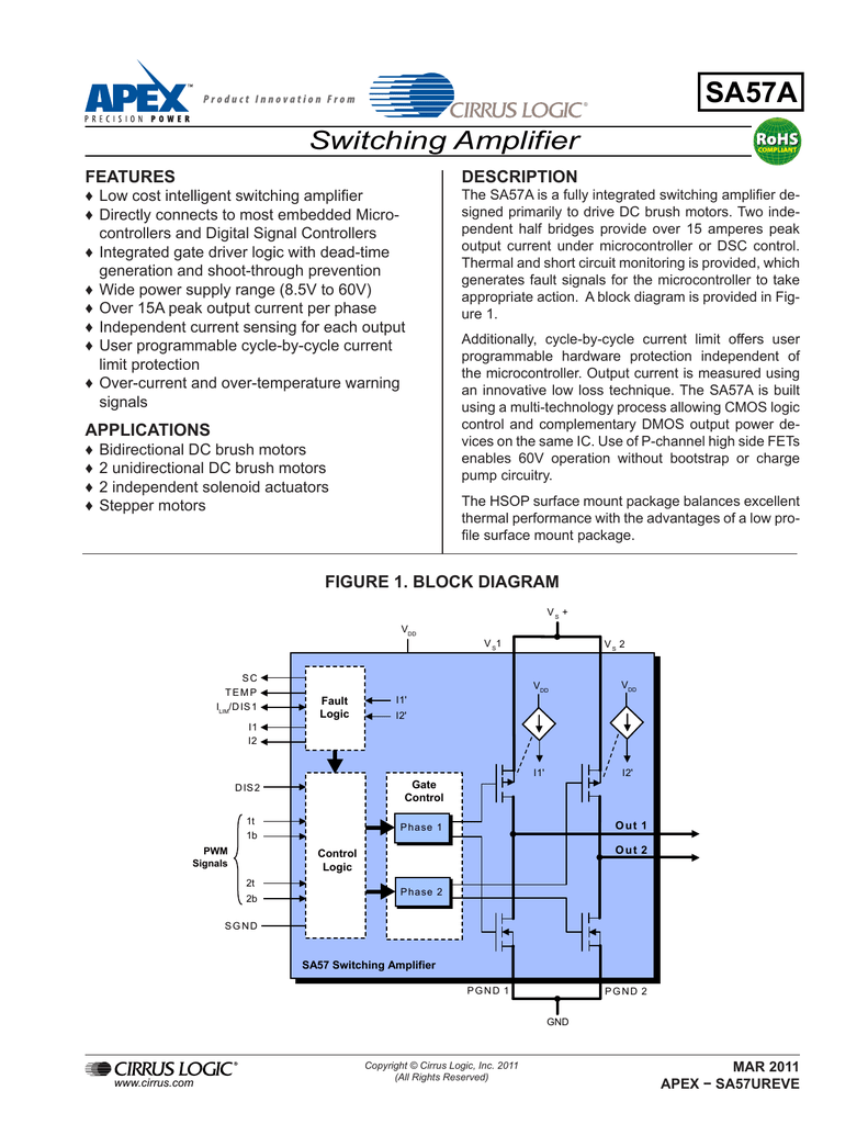 medium resolution of datasheet for sa57ahu by apex microtechnology