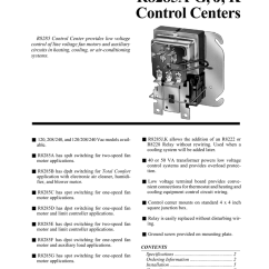 Honeywell R8285d Wiring Diagram Led Lighting R8285a G J K Control Centers Manualzz Com