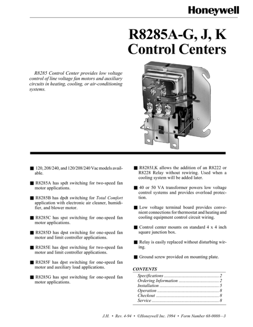 small resolution of r8285a g j k control centers