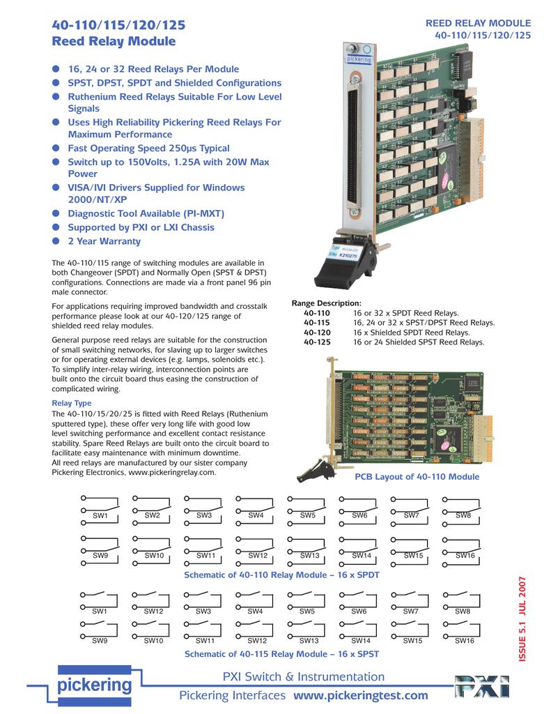 hight resolution of pickering 40 100 series datasheet