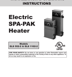 electric spa pak heater installation operating [ 791 x 1024 Pixel ]