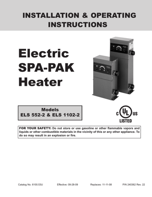 small resolution of electric spa pak heater installation operating