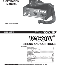 sirens and controls installation amp operation manual [ 791 x 1024 Pixel ]