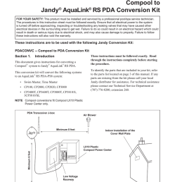 jandy pdaconvc installation guide [ 791 x 1024 Pixel ]