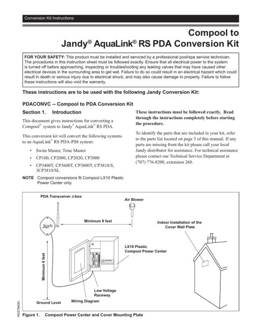 small resolution of jandy pdaconvc installation guide