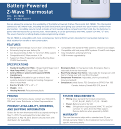 battery powered z wave thermostat sku gc tbz48 upc 0 93863 13493 7 we are pleased to announce the availability of the battery powered z wave thermostat  [ 791 x 1024 Pixel ]