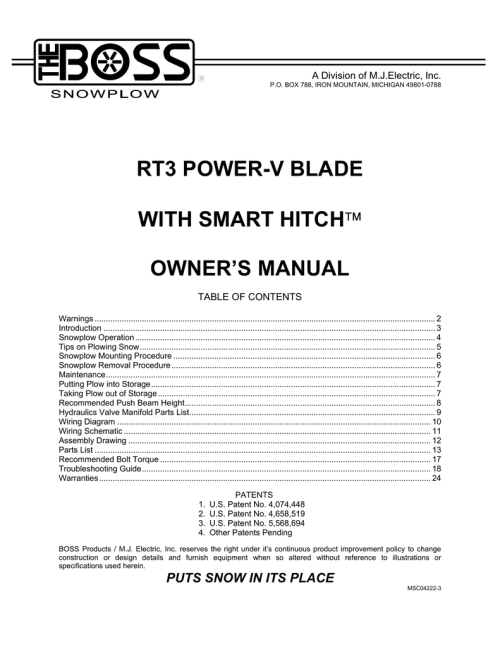 small resolution of rt3 power v blade w smarthitch owner s manual  manualzz com boss plow  boss snow plow wiring diagram