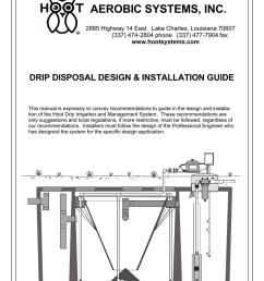 hoot aerobic systems drip disposal design installation guidehoot aerobic systems drip disposal design installation guide [ 791 x 1024 Pixel ]