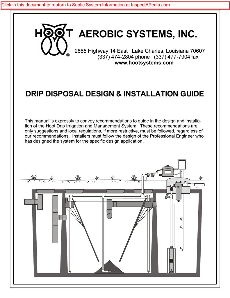 hight resolution of hoot aerobic systems drip disposal design installation guidehoot aerobic systems drip disposal design installation guide