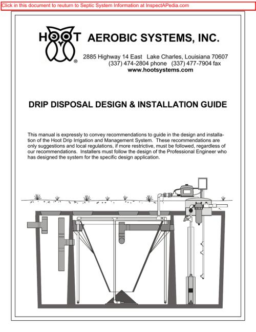 small resolution of hoot aerobic systems drip disposal design installation guidehoot aerobic systems drip disposal design installation guide