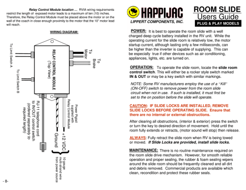 small resolution of rv room slide wiring diagram