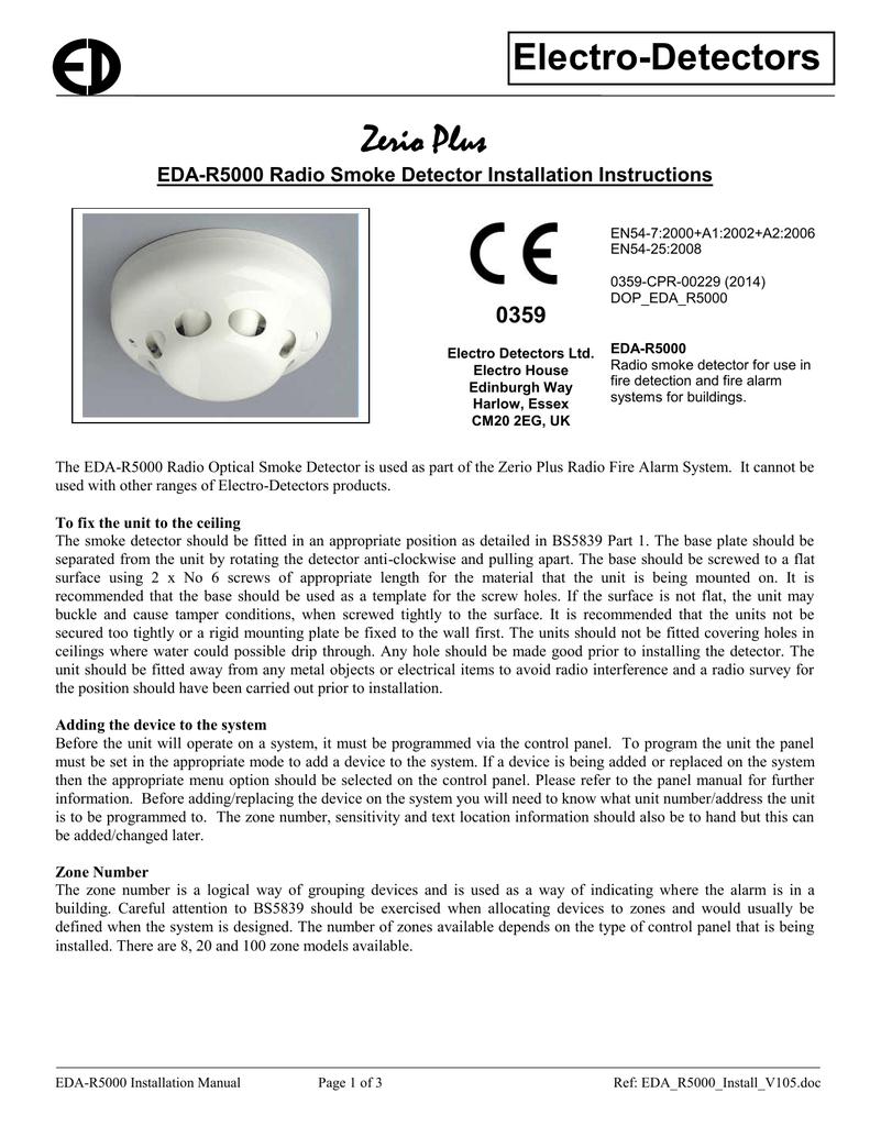 hight resolution of eda r5000 radio optical smoke detector